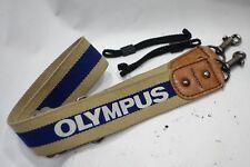 Genuine Olympus OM wide strap & cords fits OM 4Ti 3 3 1 M-1 SLR camera, Exc