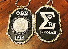 Phi Beta Sigma Doublesided G.O.M.A.B Dogtag