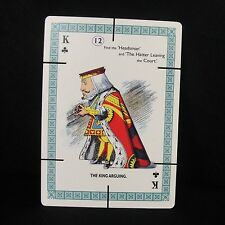 Alice in Wonderland Eames House of Cards Single King of Clubs The King Aguing