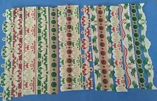 Anna Griffin Holiday Christmas Border Stickers Card Making Set of 16