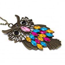 Collier sautoir avec un pendentif Hibou Color Mix, un bijou pour femme