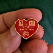 I Love Jerry'S Kids Lewis 7-Eleven & Chief Auto Parts Heart Shaped Pin Safeway