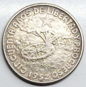 GUPA 1952 40 CENTAVOS MONEDA PLATA EBC