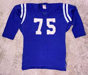 1940's Southland Mfg Durene Football Jersey #75 Blue/White