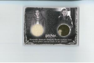 Harry Potter COSTUME CARD C12 DUAL Hermione EMMA WATSON Ginny Screen Worn Prop