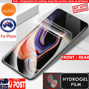 HYDROGEL Screen Protector for Apple iPhone 12 11 Pro max XS Max XR lens protect