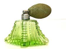 Perfume Bottle Vintage Green Glass