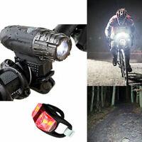 luce Testa Lampada Tail Torcia Set per bici Bright LED FARO ANTERIORE POSTERIORE