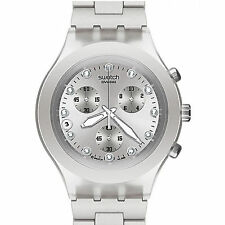 swatch irony chrono full blooded silver raro orologio donna cronografo svck4038g