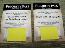 Universal Studios Hollywood Harry Potter Priority Passes (2)