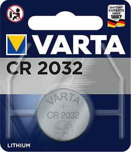 2 x Varta CR 2032 6032 3V Lithium Batterie Knopfzelle 220mAh im 1er Blister