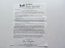 The Beatles Original De 1965 - 1966 club de fans carta de renovación de la suscripción