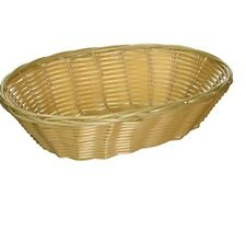 Woven and Bread Natural Color Basket Oval 9-1/2-inch 12 Count, Restaurant Basket
