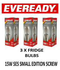 3 X Fridge Lamp Bulbs E14 Screw 15W Appliance Light SES 15W Himalayan Salt Bulb