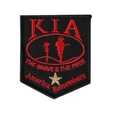 KIA America Remembers  EMBROIDERED 3 INCH IRON ON MC BIKER  PATCH