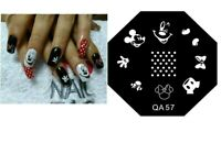 Christmas Snow Santa Nail Stamp Nails Art Stamping Plates Reindeer Mickey
