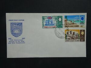 GEL002 Gilbert & Ellice Islands Raising of the Constitution flag FD stamp cover