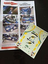 DECALS 1/24 SUBARU IMPREZA WRC J JOSEPH RALLYE CHARBONNIERES 2000 RALLY HASEGAWA