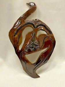 Grotesque Comedy Mask - handmade stoneware NC artist Helen Seebold