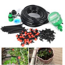 DIY Micro Drip Irrigation System Plant Auto Timer Self-Watering Garden Hose Kits