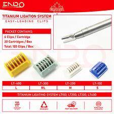 120 X Laparoscopic Clips Titanium Ligation Clip Ethicon Lt100 Lt200 Lt300 Lt400