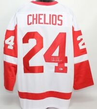 Chris Chelios Signed Red Wings Jersey (Beckett) Playing career 1984–2010 6d6f27ccb