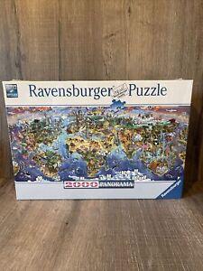 NEW Ravensburger World Wonders Map 2000 Pc Panorama Jigsaw Puzzle 16698 Sealed