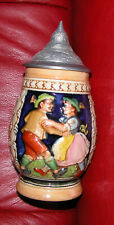 Dancing Couple German Lidded Stein