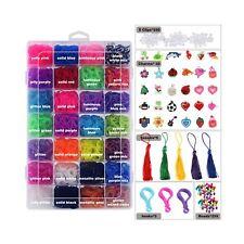 Glonova 11800+ Rubber Bands Refill Loom Kit Organizer for Kids Bracelet Weavi...