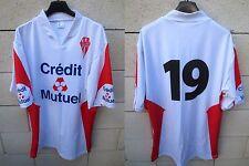 Maillot rugby NIORT STADE NIORTAIS porté n°19 match worn shirt Crédit Mutuel 7