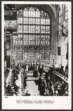 Last Farewell to King George VI, St. Georges Chapel Windsor. Real Photo Postcard
