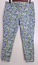 GAP Jeans 6 Skinny Mini Green Blue Print Watercolor Slim Stretch Womens