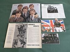 HERMANS HERMITS  -POP MUSIC  - CLIPPINGS /CUTTINGS PACK