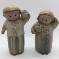 Vtg Midcentury Ceramic Lisa Larson Style Salt & Pepper Shakers