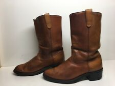 MENS BRONCO COWBOY BROWN BOOTS SIZE 9 D