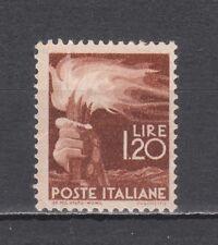 ITALIA 1945 Democratica Lire 1,20 verde bruno rosso nuovo **
