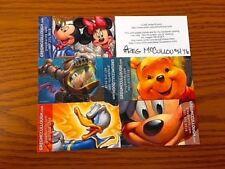 Disney Artist GREG McCULLOUGH Card Prints Donald, etc. Set of 6 (1) AUTOGRAPHED