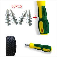 50pcs Tires Stud+1PC Sleeve tool Spikes for Car Wheel Tyre Snow Winter Anti-Slip