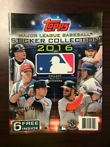 2016 Topps Major League Baseball 32-Page Sticker Collection Booklet - BRAND NEW!