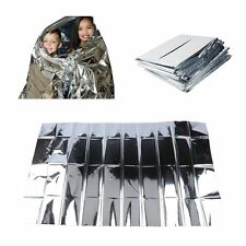 Silver Emergency Gear Survival Warm Blanket Thermal Space Mylar First Aid Rescue
