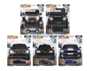 Hot Wheels Premium Fast & Furious Furious Fleet Complete Set of 5 Cars