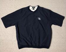 Antigua Men's Large L Blue Uk University of Kentucky Pullover Shirt Short Sleeve