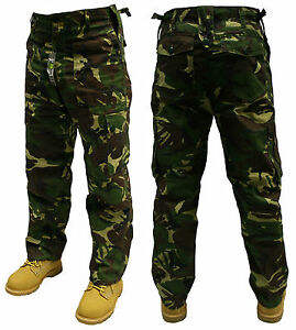 """48"""" INCH WOODLAND CAMOUFLAGE ARMY MILITARY CARGO COMBAT TROUSERS PANTS"""