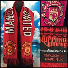 Manchester United Knit Scarf Football Soccer Fan Rooney Made UK Ruffneck Scarves