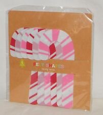 New 6 Count . Felt Shapes Candy Canes . For Christmas Holiday Craft Projects