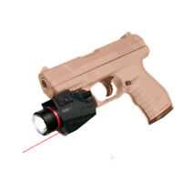 150 Lumens Tactical Led Flashlight and Red Laser Sight Combo White Light