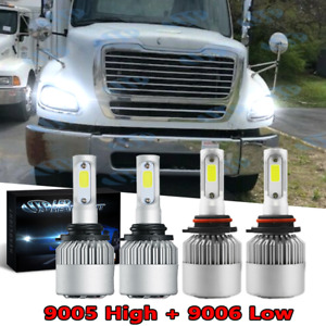 Headlight Kit For Freightliner M2 100 106 112 2002-2017 9005 9006 LED Hi/Lo Bulb