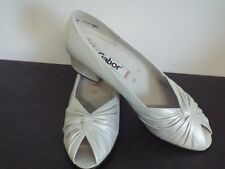 Ladies GABOR Ivory Pearlescent Leather Court Shoes UK 5½ BNWB RRP £65.00