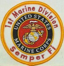 1st Marine Division Semper Fi Usa Marine Patch W/ Velcro® Brand Fastener #4
