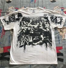 WWE/WWF Graffiti T-Shirt L Cena Mysterio Christian Miz Sheamus Daniel Bryan
